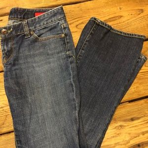 Express x2 jeans slim w10 low rise bootcut sz 6